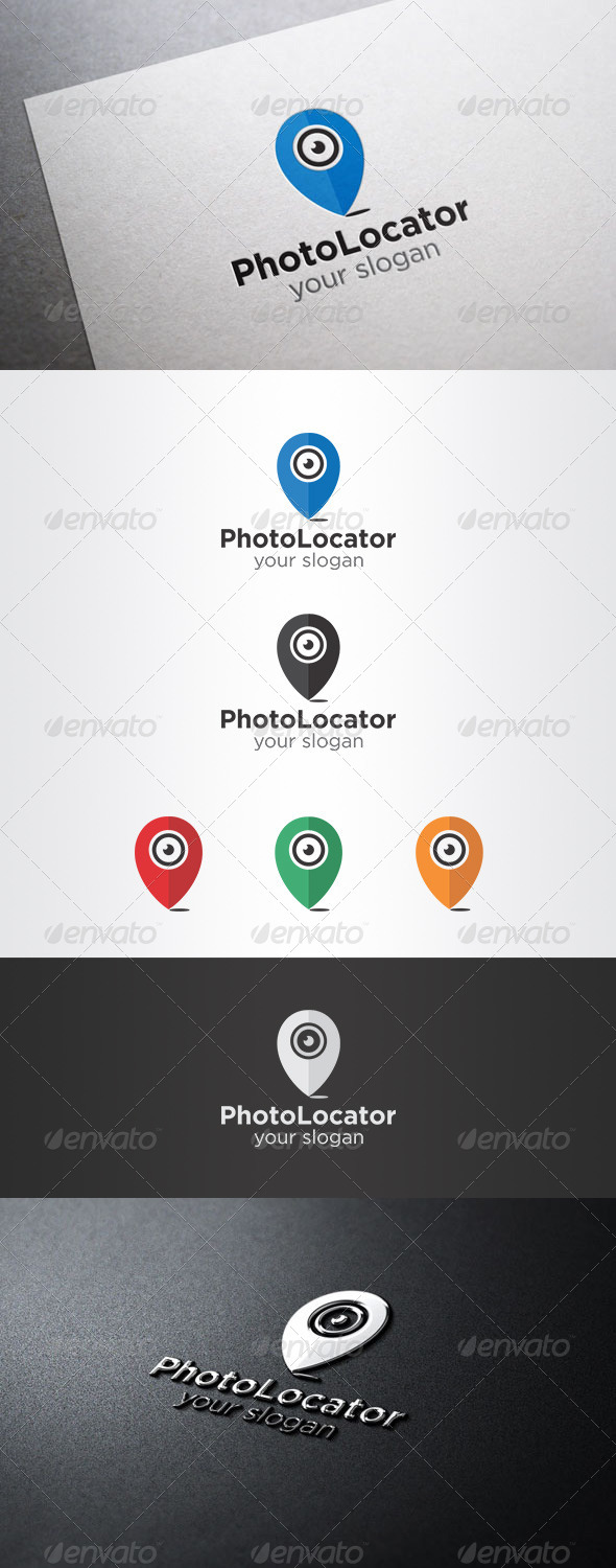 Photo Locator Logo - Symbols Logo Templates
