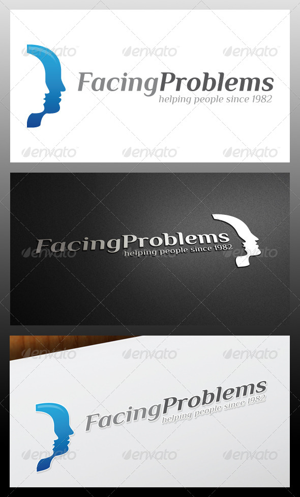 GraphicRiver Facing Problems Logo Template 5319185