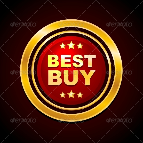 GraphicRiver Gold Label Best Buy Vector 5319202