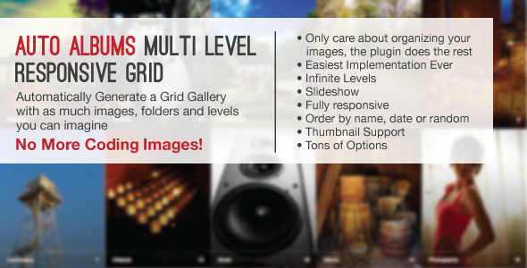 CodeCanyon Auto Albums Multi Level Responsive Grid 5319229