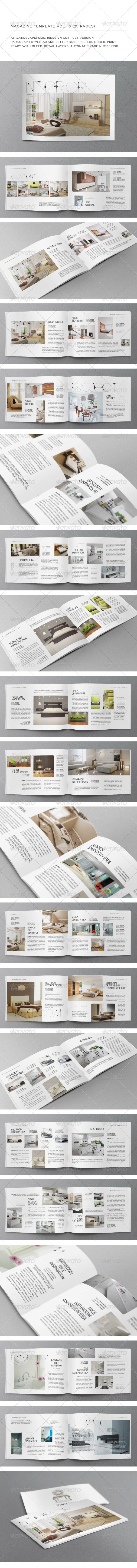 A5 Landscape 25 Pages mgz (Vol. 16) - Magazines Print Templates