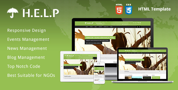 HELP - NGO HTML Template - Charity Nonprofit