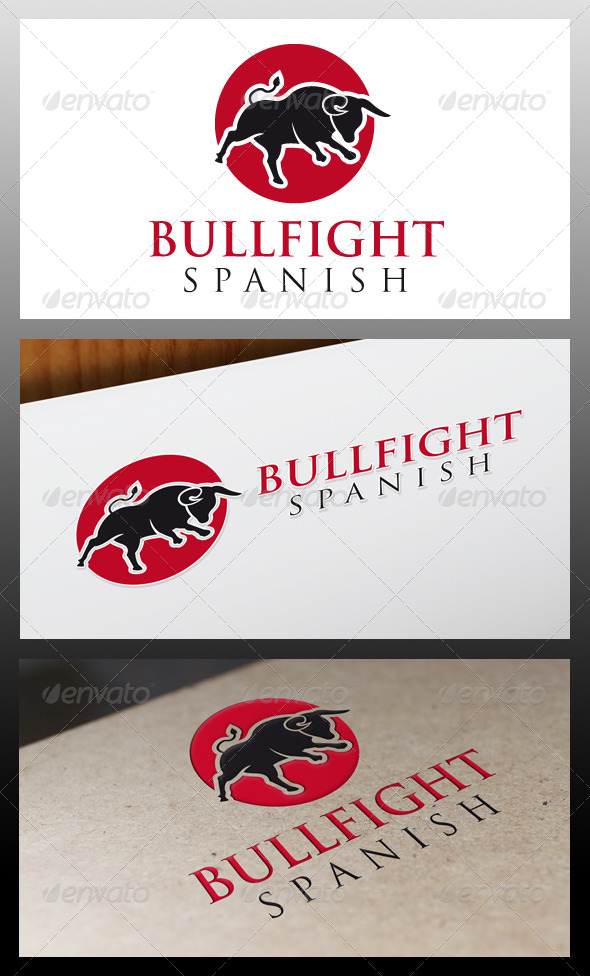 GraphicRiver Bullfight Logo Template 5319523