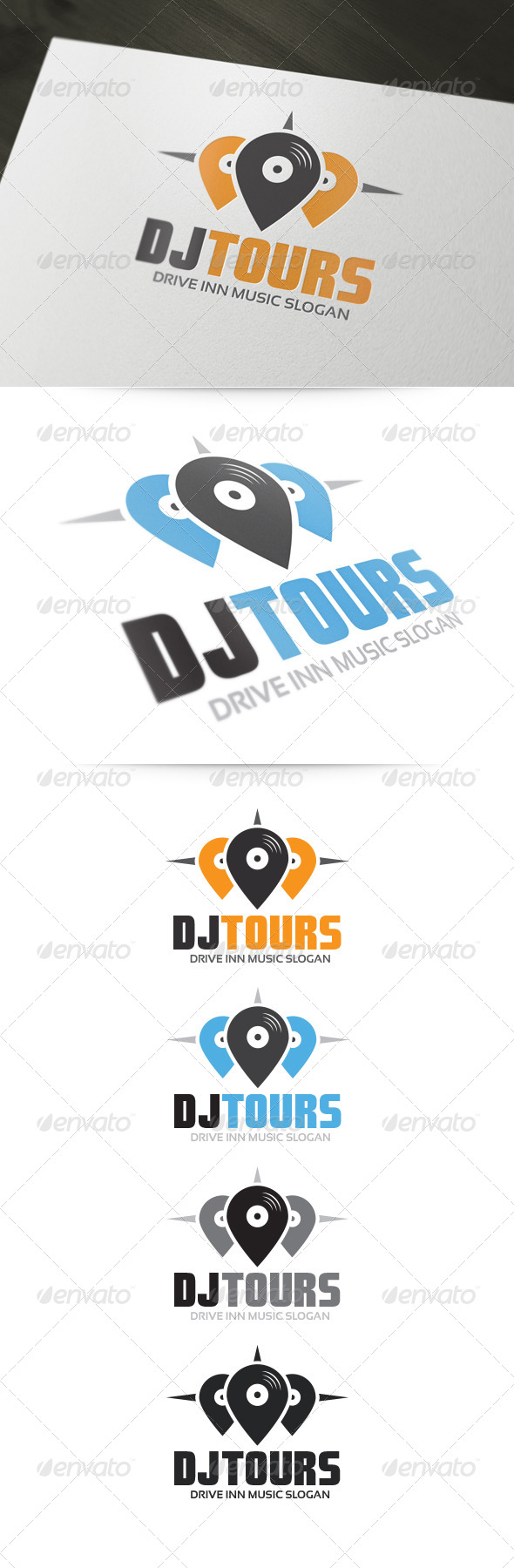 GraphicRiver DJ Tours Logo 5319525