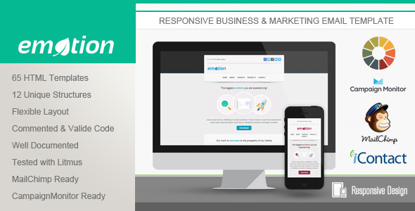 ThemeForest Emotion Responsive Email Template 5319532