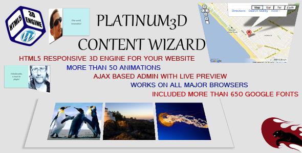 Platinum3D Content Animator – HTML5 Responsive (Utilities) images