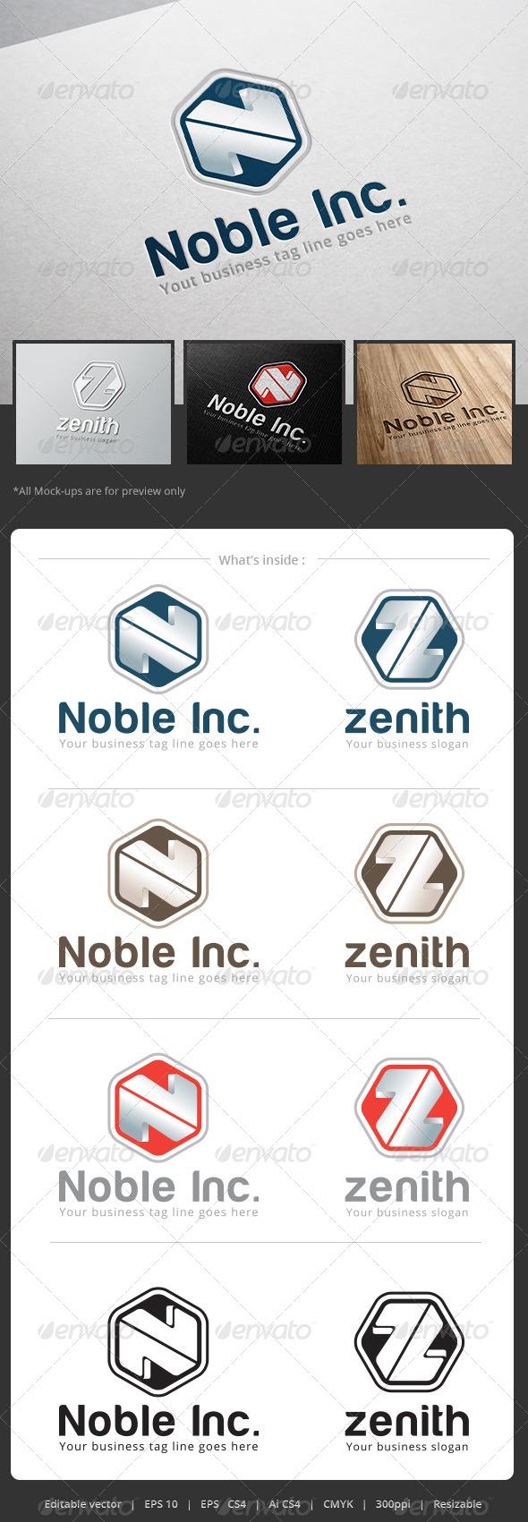 GraphicRiver Noble Inc Logo 5319621