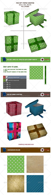 GraphicRiver Gift Paper Creator 5268932