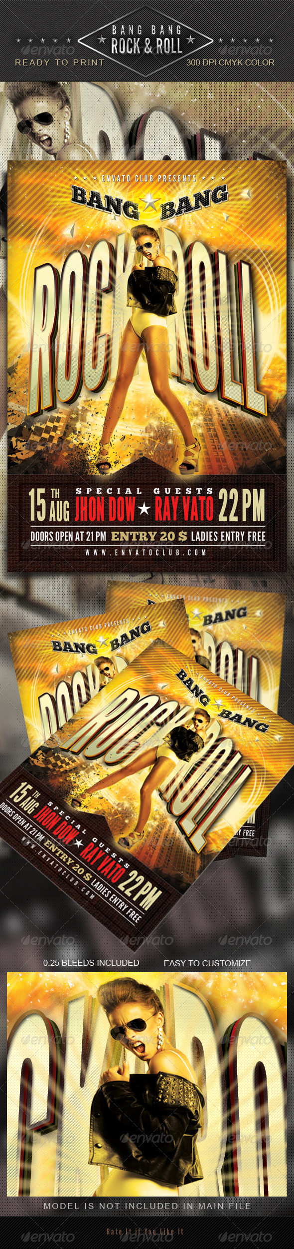 Bang Bang Rock & Roll Flyer