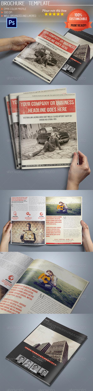 GraphicRiver A5 Retro Bi-Fold Business Brochure 5320579