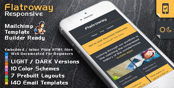 FlatroWay - Metro Flat Responsive Email Template - Newsletters Email Templates