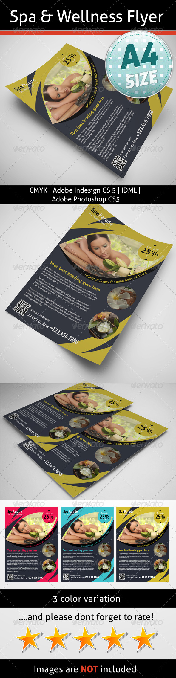 GraphicRiver Spa & Wellness Flyer 5320892