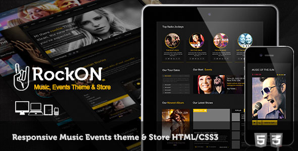 RockOn - Multipurpose Music Events, Store Template - Music and Bands Entertainment