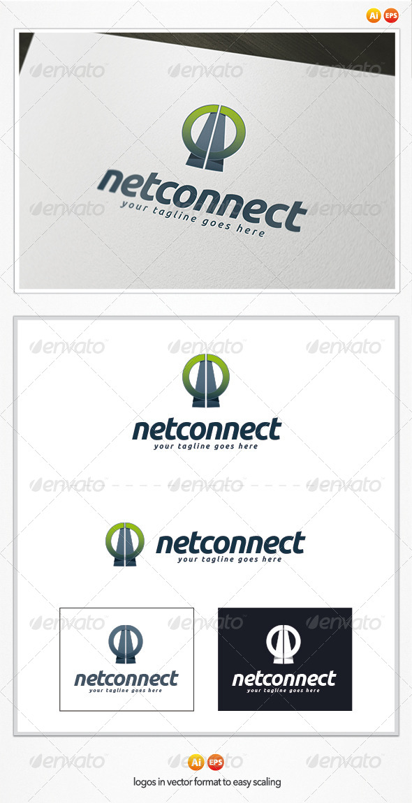 GraphicRiver Net Connect Logo 5314812