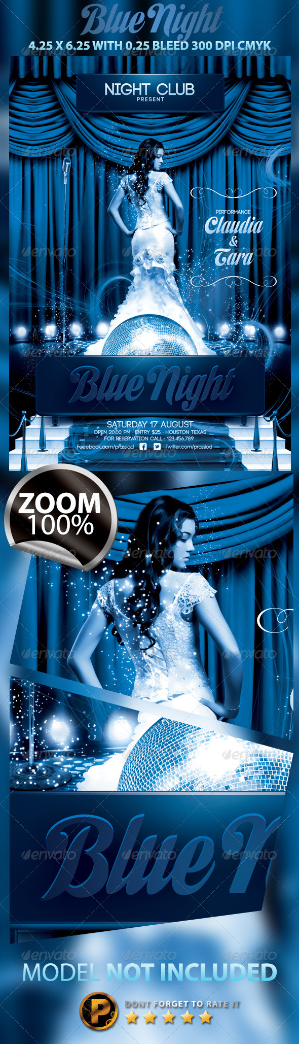 GraphicRiver Blue Night Flyer Template 5321367