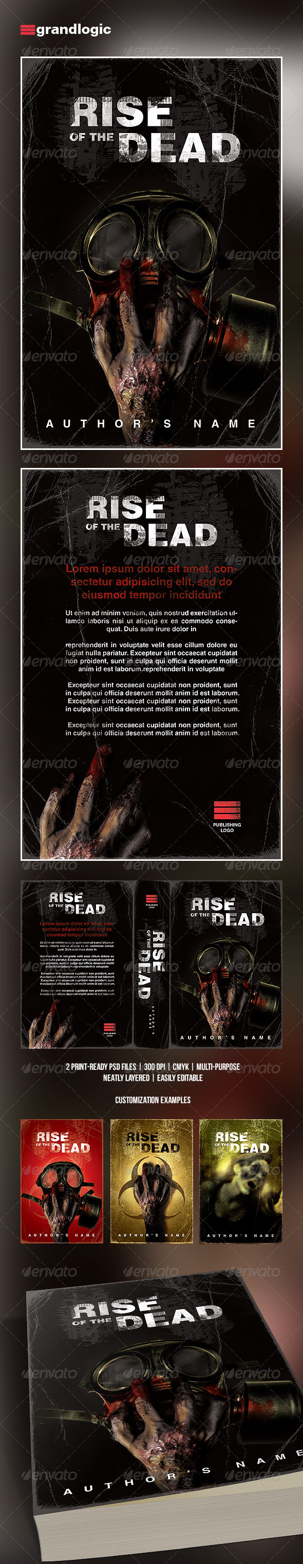 GraphicRiver Zombie Horror Book Cover Template 5321454