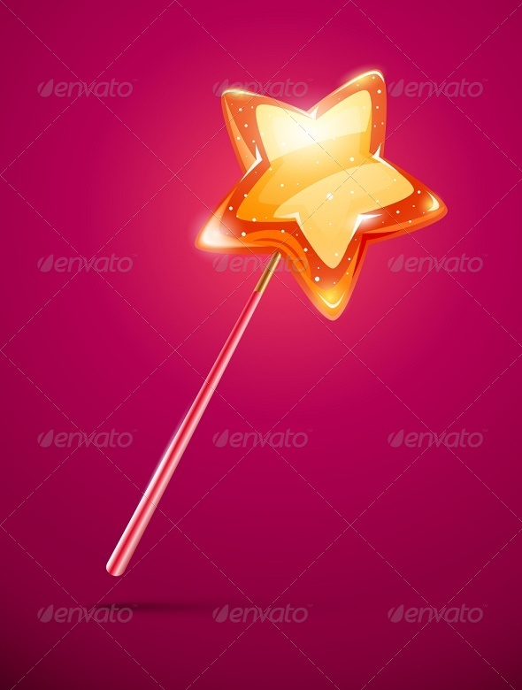 GraphicRiver Fairytale Magic Wand with Shining Star 5321470