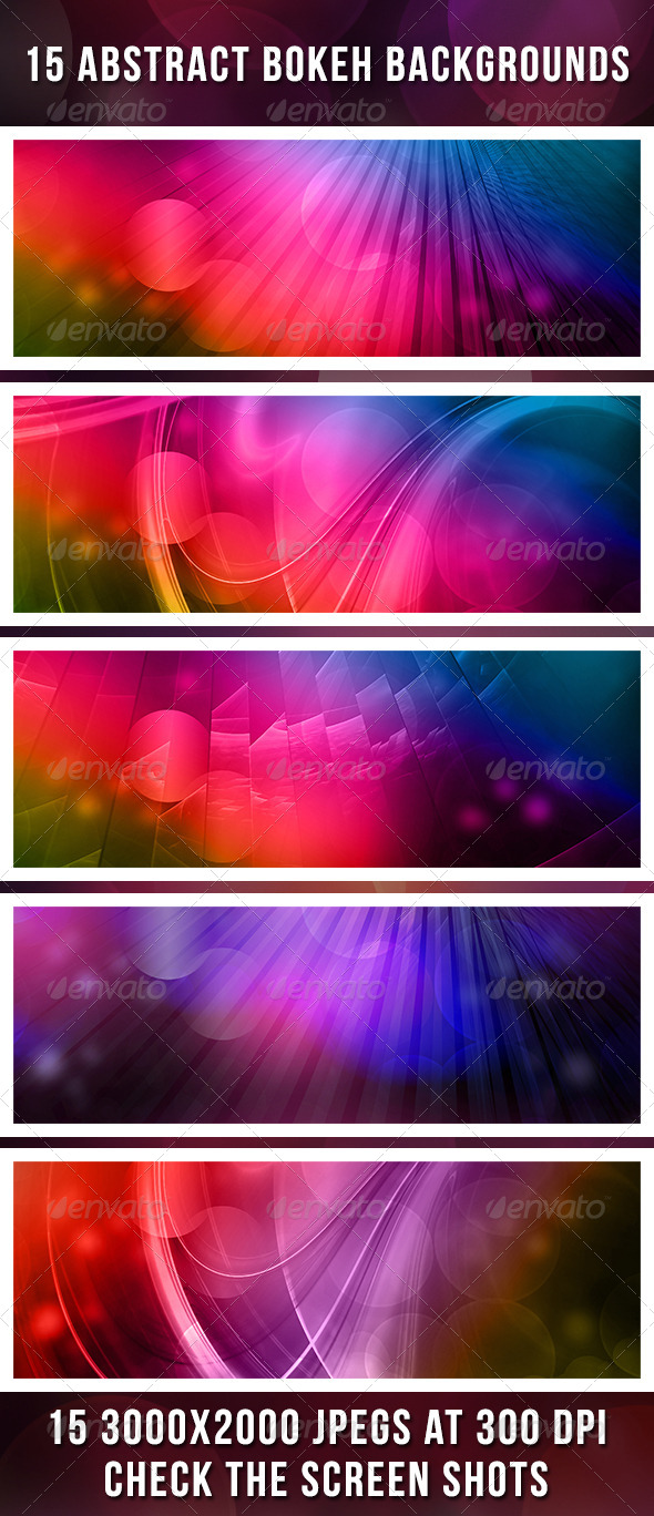 GraphicRiver 15 Bokeh Backgrounds 4575116