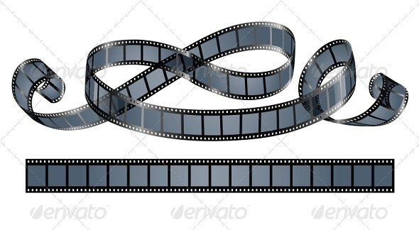 GraphicRiver Twisted Film Reel Isolated 5321479