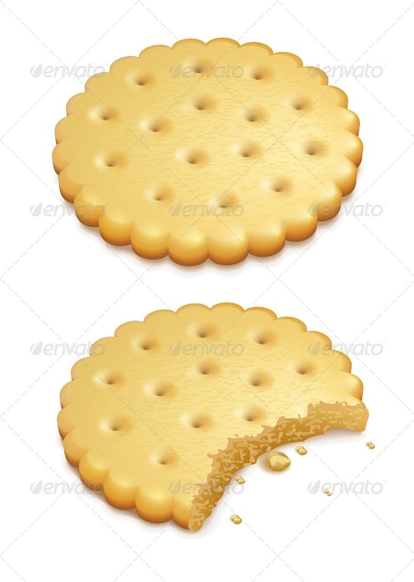 GraphicRiver Crispy Cookies Isolated on White 5321480