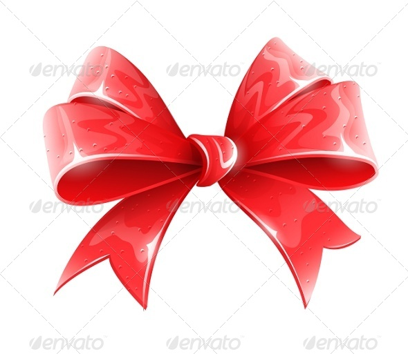 GraphicRiver Red Bow for Holiday Gift Decoration 5321483