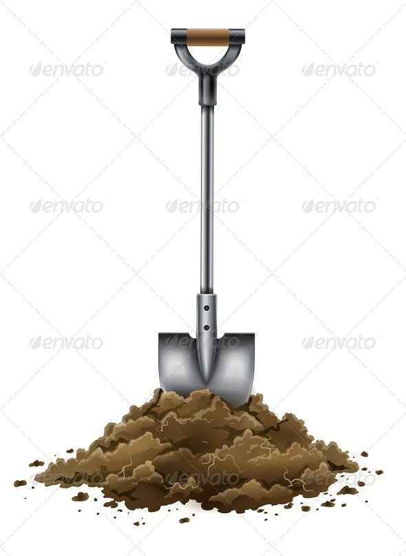 GraphicRiver Shovel Tool for Gardening Work in Ground 5321490