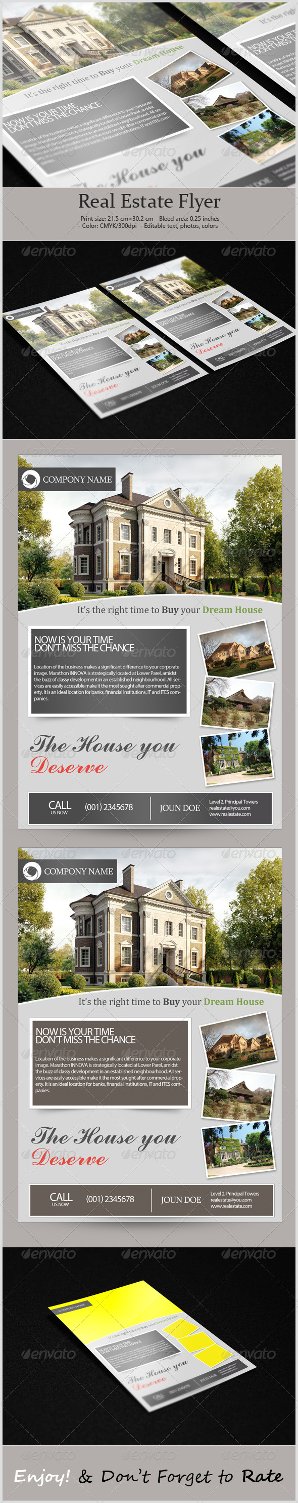 GraphicRiver Corporate Real Estate Flyer 5322290