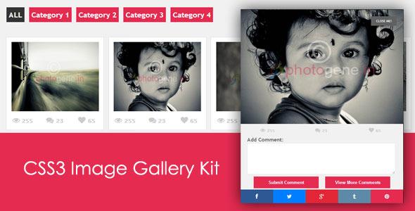 CodeCanyon CSS3 Image Gallery Kit 5322341