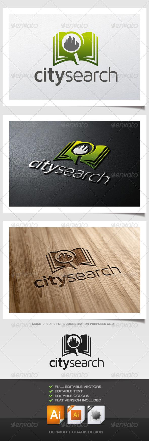GraphicRiver City Search Logo 5322434