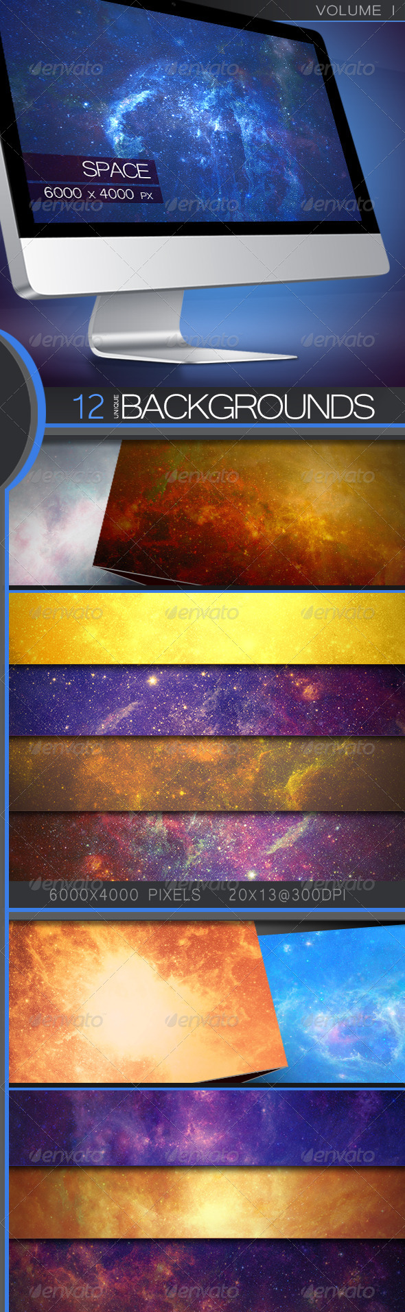 GraphicRiver Space Backgrounds Volume 1 5322752