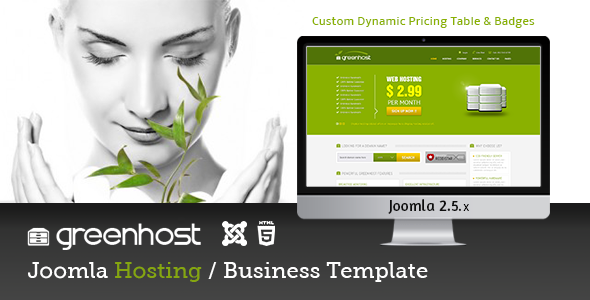 ThemeForest GreenHost Business & Hosting Joomla Template 5267137