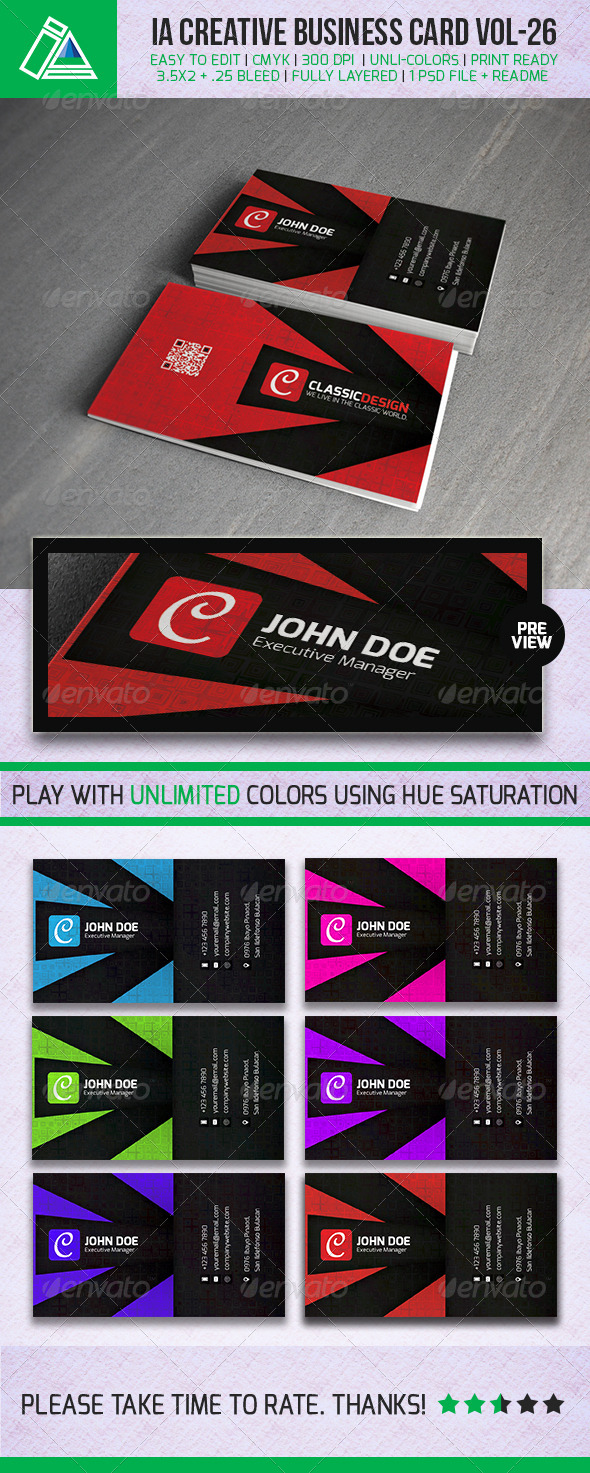 IntenseArtisan Business Card Vol.26 - Creative Business Cards