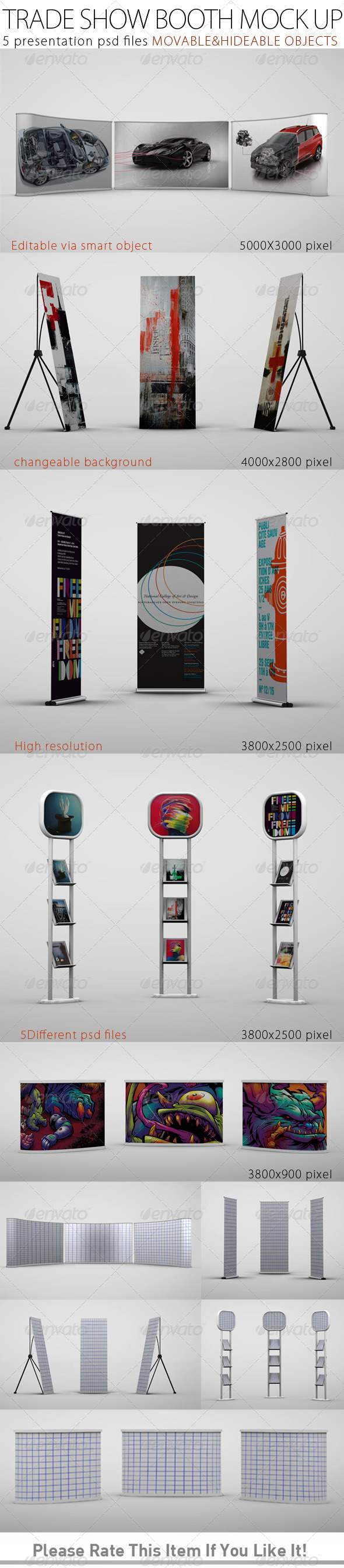Trade Show Booth Mock Up - Product Mock-Ups Graphics