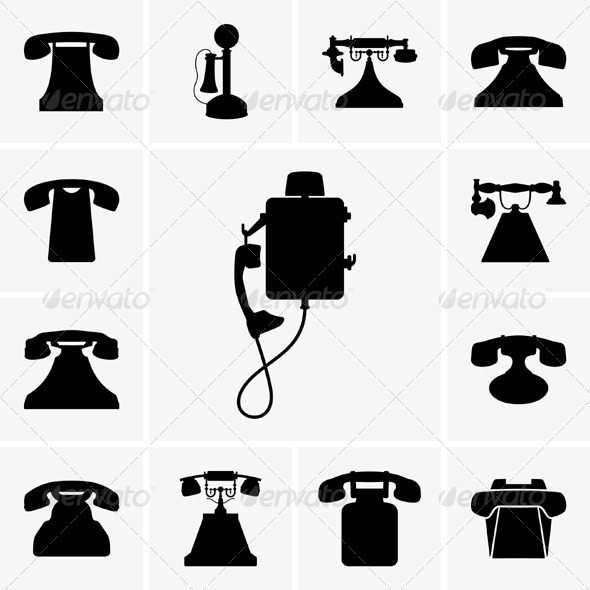GraphicRiver Old Telephones 5323420