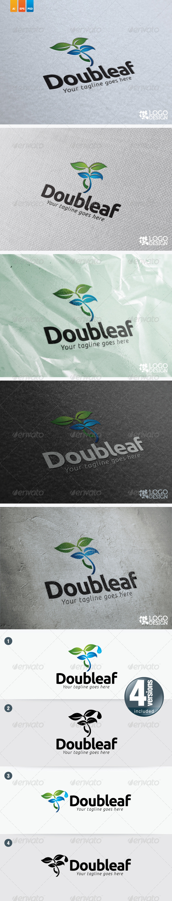 Doubleaf - Nature Logo Templates
