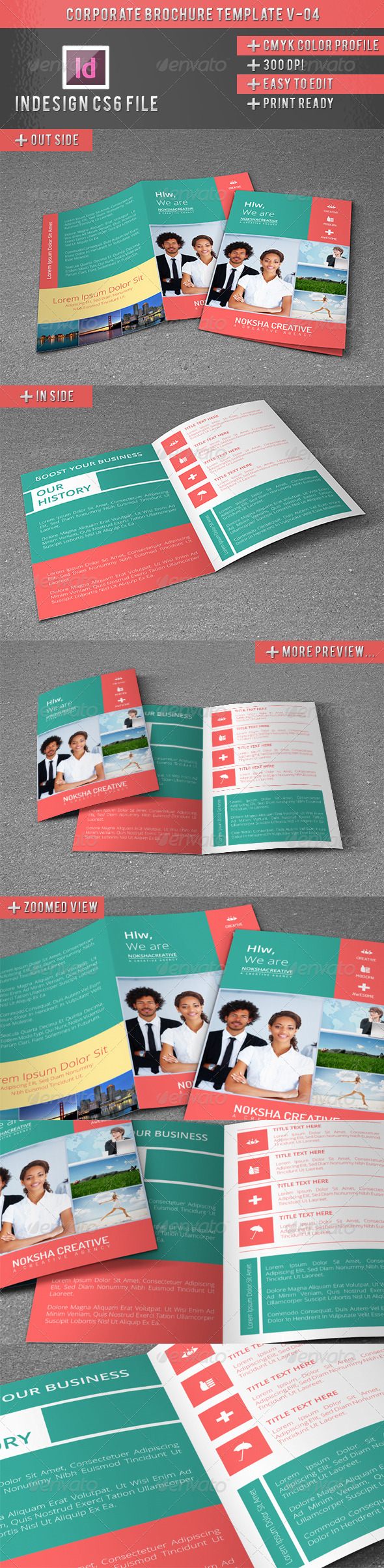 Corporate BiFold Brochure V-04 - Brochures Print Templates
