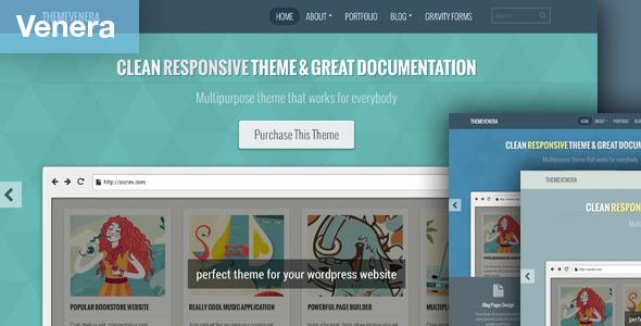ThemeForest Venera Responsive Portfolio and Blog Theme 5297805