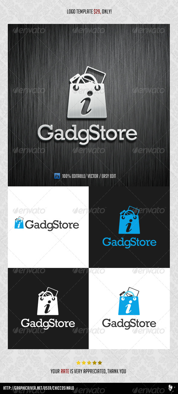 GadgStore Logo Template - Abstract Logo Templates