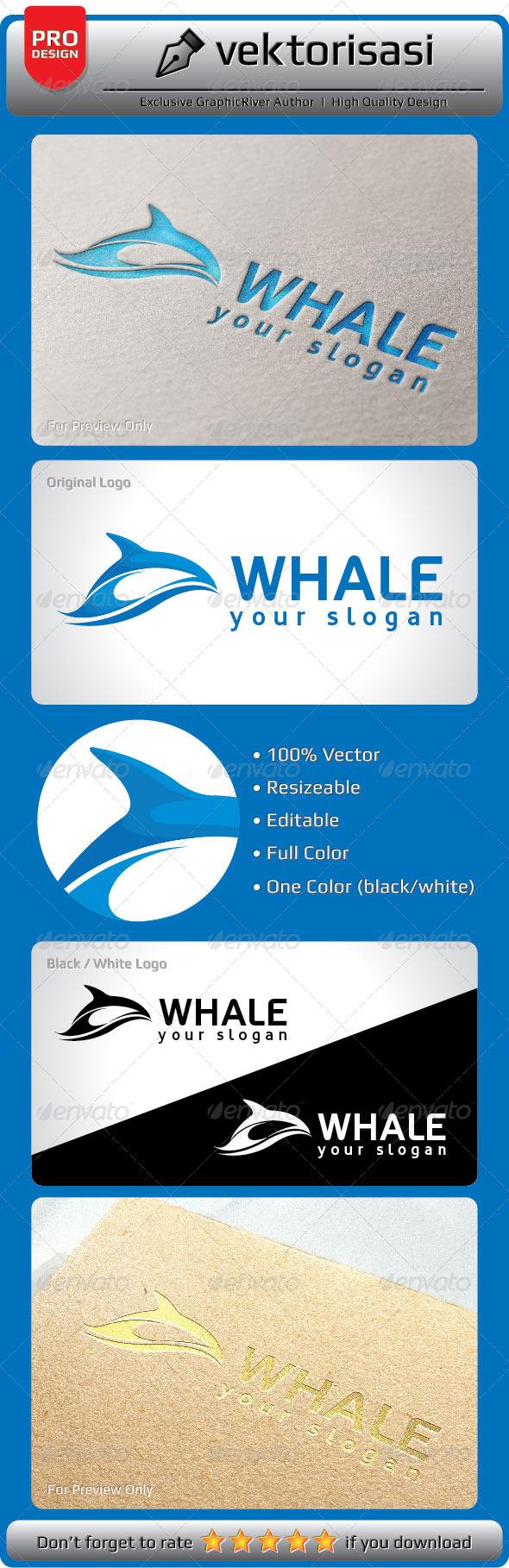 GraphicRiver Whale Logo 5323818