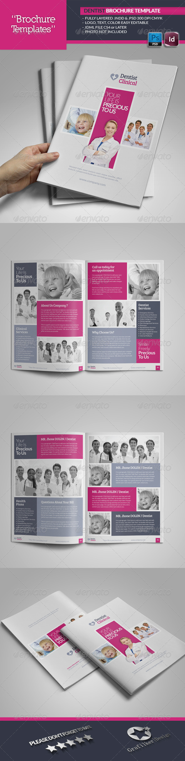 GraphicRiver Dentist Brochure Template 5323819