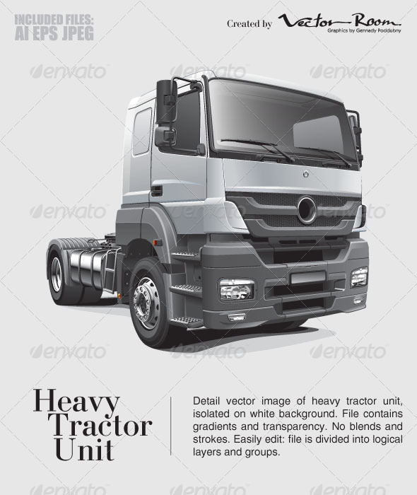GraphicRiver Heavy Tractor Unit 5323951