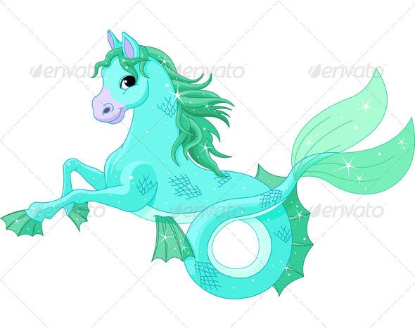 GraphicRiver Mythological Sea Horse 5323967