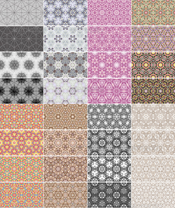 GraphicRiver Big Set of 32 Mosaic Seamless Patterns 5323977