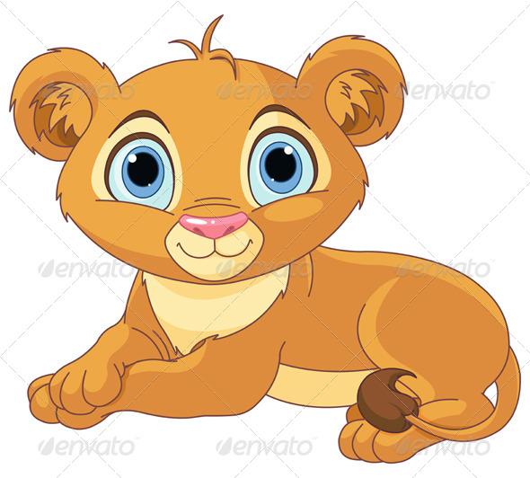 GraphicRiver Resting Little Lion Cub 5323982