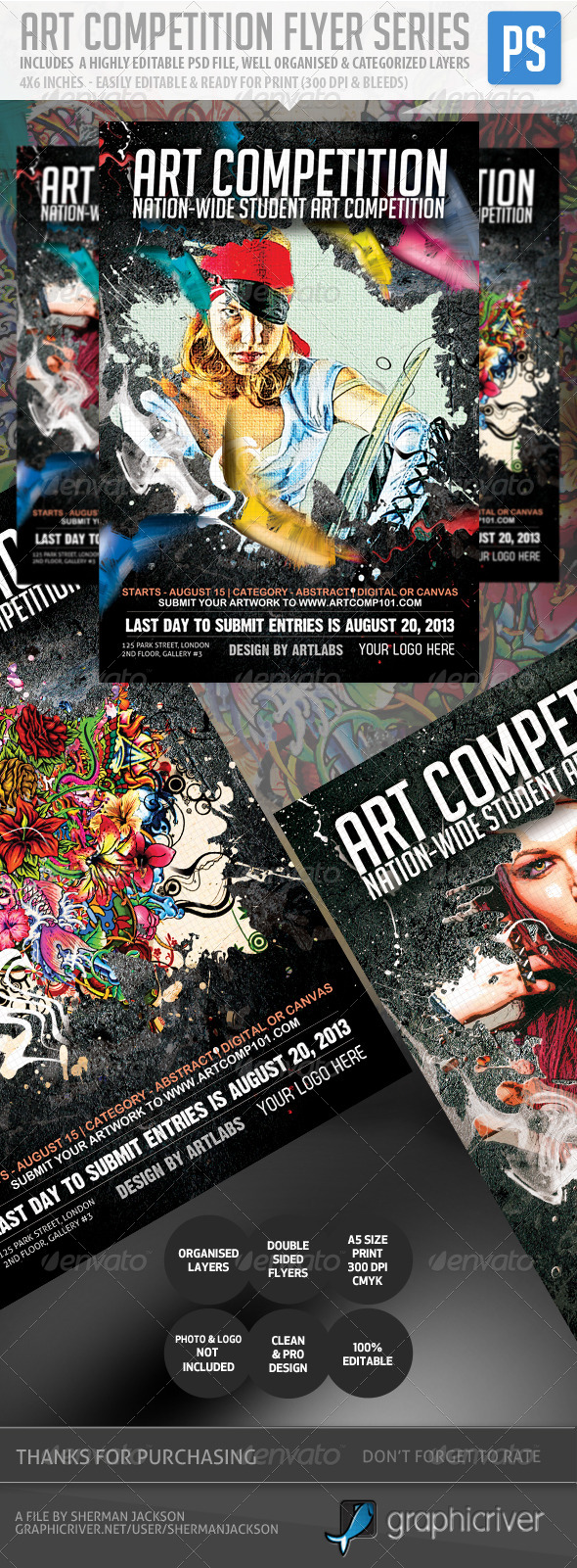 GraphicRiver Art Competition Flyer Series 5324023