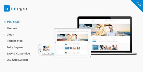 ThemeForest Integro Portfolio and Blog PSD 5324042