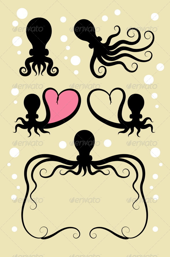 Octopus Symbol Decorations - Animals Characters