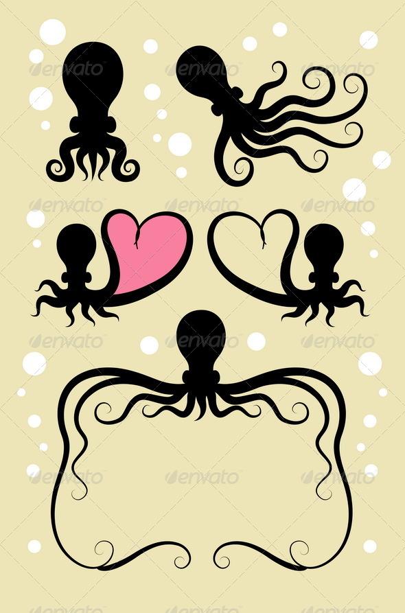 GraphicRiver Octopus Symbol Decorations 5324048