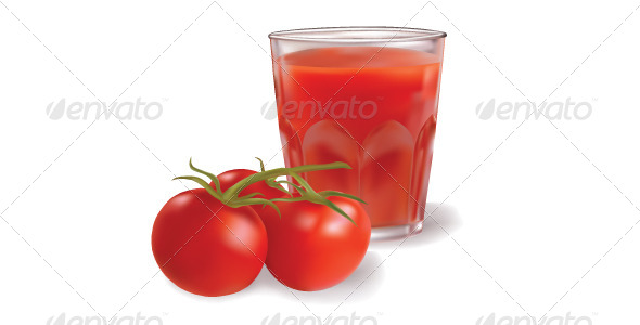 GraphicRiver Tomatoes and Tomato Juice 5324612