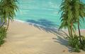 caribbean beach bird's eye view - PhotoDune Item for Sale